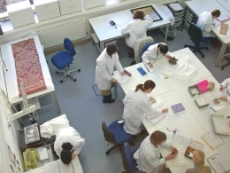 MA Textile Conservation workroom