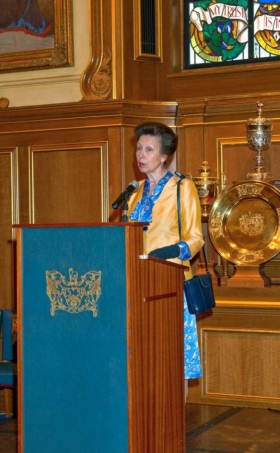 HRH The Princess Royal, Patron of the TCC Foundation, speaking at the reception