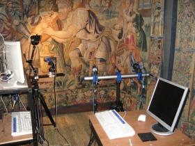 Tapestry monitoring in-situ at Hardwick Hall