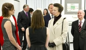 HRH The Princess Royal met students and staff at the official opening of The Cen